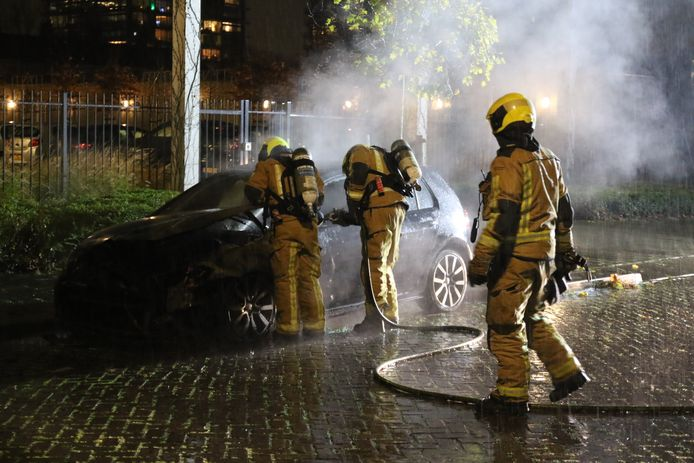 Autobrand in Rijswijk.