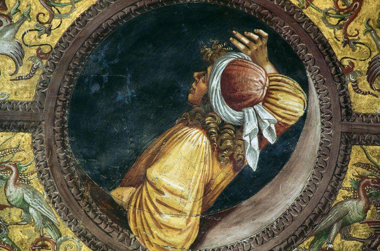 Empedocles, fresco uit 1499-1502 door  Luca Signorelli in de dom van  Orvieto. Beeld Getty