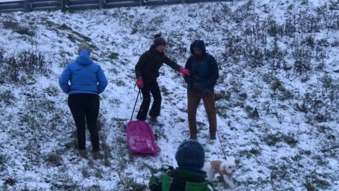Mini-sneeuwmannen, 'Gekke Freddy' en Playmobil-mannetjes: ondanks dun laagje toch winterpret in het Hageland