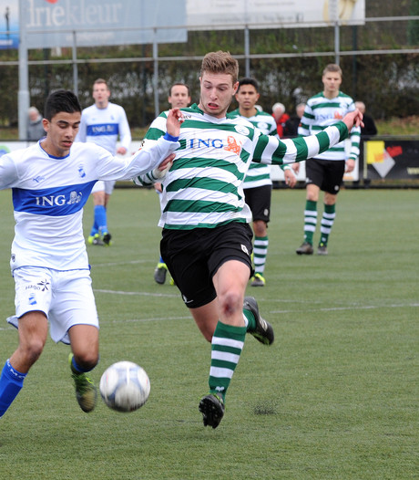 Drie goals van Luteijn nog niet genoeg voor een Middelburgse zege