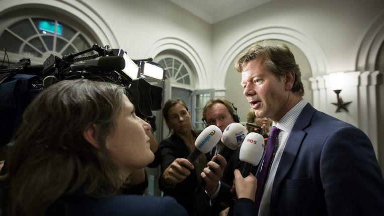 Joel Voordewind staat de pers te woord Beeld ANP