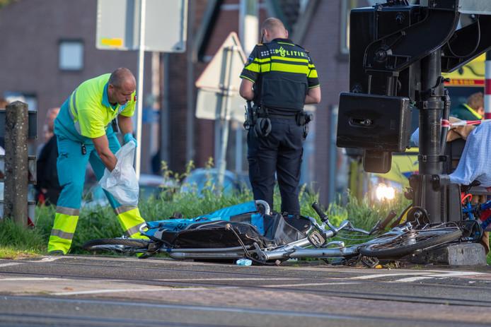 Ongeval met bakfiets in Bodegraven.