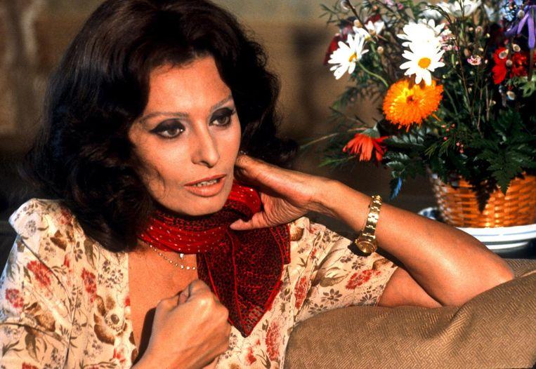 Actrice Sophia Loren in New York (1979) Beeld Getty Images