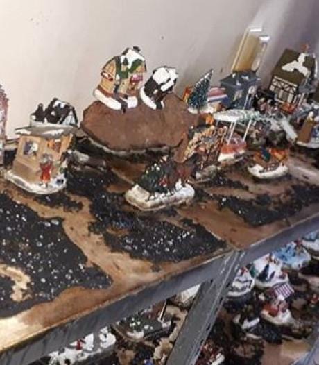 Kerstdorpje in woning Culemborg doorgebrand