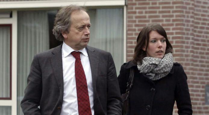 Henk Bleker met zijn vriendin Barbara Rijlaarsdam.