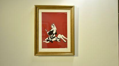 Deurwaarders nemen zestig werken van Banksy in beslag in Brussel