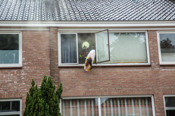 Brand in woning Roosendaal.