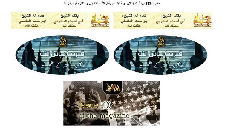Screenhot van de website https://shamikh1.info/vb/, waar de al Qaeda 'Glossy', is gepubliceerd. Beeld
