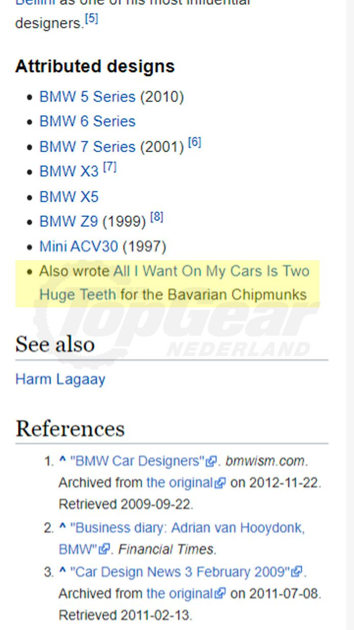 Screenshot van Wikipedia.