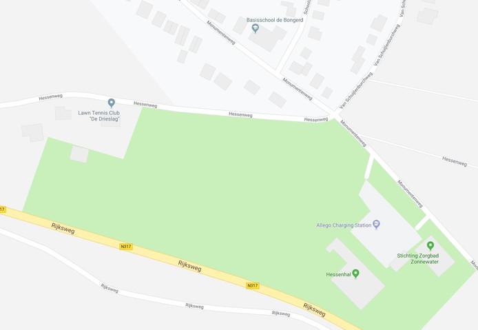 Op de oude voetbalvelden is een woonwijk met 24 woningen gepland.