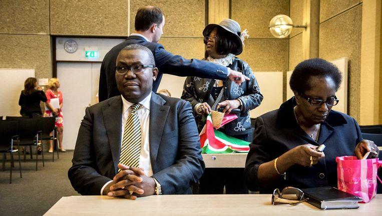 De 50-jarige Frank King (links), jurist van de beweging tegen Zwarte Piet. Beeld anp