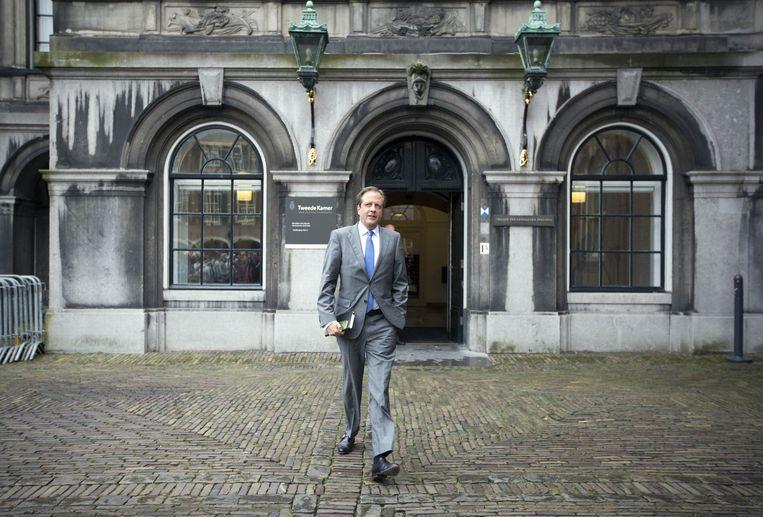 D66-leider Pechtold op het Binnenhof. Beeld ANP