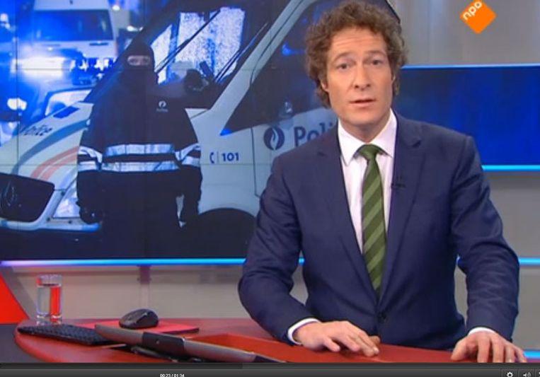 Jeroen Overbeek verscheen vorige week pal na Wie is de Mol in beeld voor een extra Journaal. Beeld null