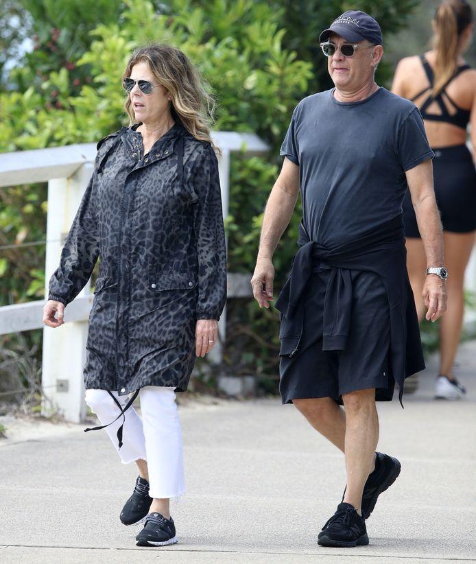 Tom Hanks et Rita Wilson en Australie, quelques jours avant de découvrir qu'ils souffraient du Covid-19.