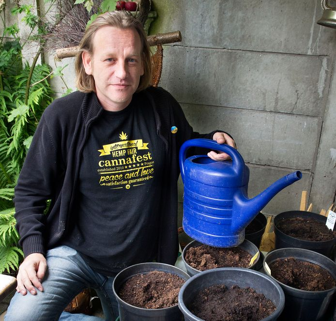 Eindhovense cannabisactivist Derrick Berman