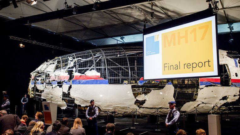 De presentatie van het onderzoek naar de MH17-ramp. Beeld anp