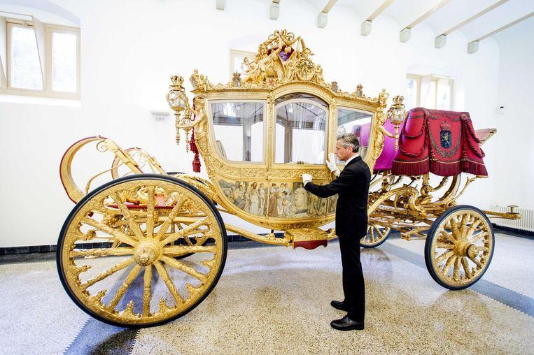 De Gouden Koets van de Koninklijke familie. Beeld ANP