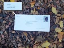 Politie geeft foto van poederbrieven vrij, met afzender uit Den Haag