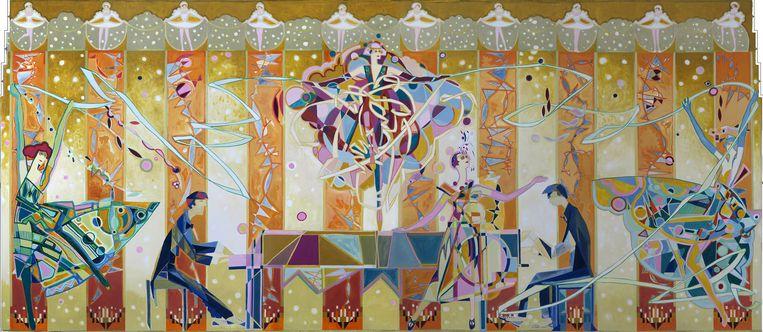 Pathé Tuschinski, ontwerp voor de wandschilderingen in zaal 2 Beeld Pathé Tuschinski