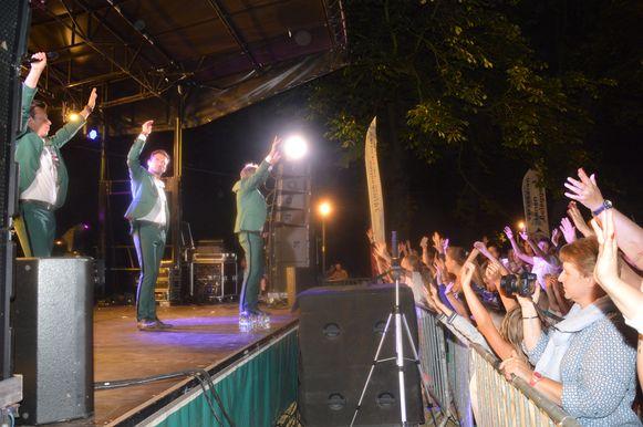 De Romeo's vorig jaar op het podium tijdens de parkconcerten in Ninove.