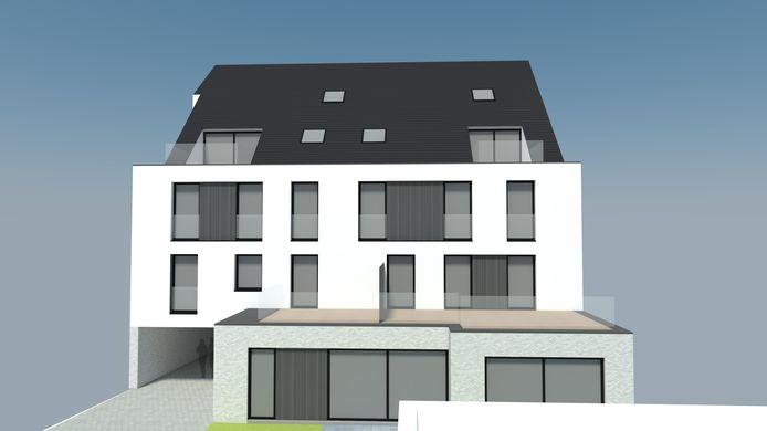 Een conceptbeeld van hoe Residentie Corso van Immo2021 er zal uitzien.
