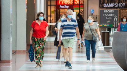 Zo goed als alle bezoekers dragen mondmasker in Wijnegem Shopping