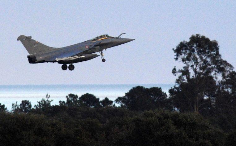Een Frans Rafele-gevechtsvliegtuig. Beeld afp