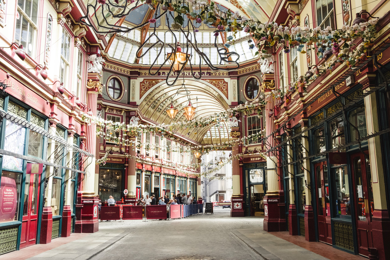 Leadenhall Market in de Londense City. Beeld Carlotta Cardana