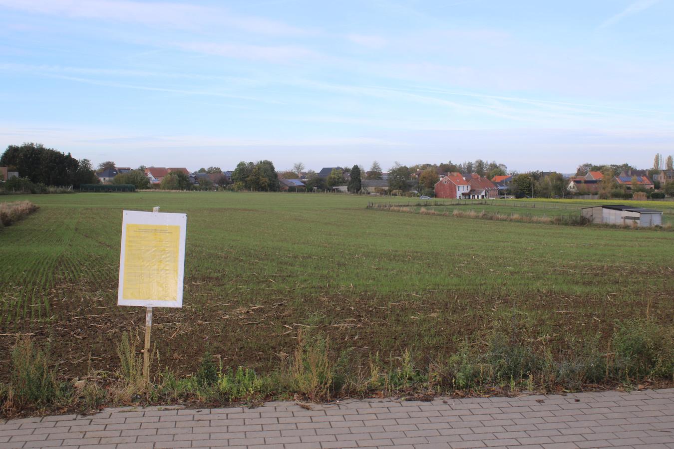 Site woonproject met 73 loten Haasrode Centrum. Dit project wordt op woensdag 7 november voorgesteld. Aan de rechterzijde komt het project