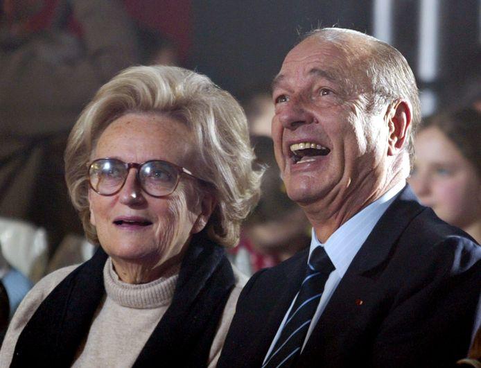 Jacques Chirac met echtgenote Bernadette in december 2004.