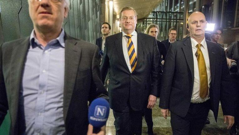 Ard van der Steur verlaat de Tweede Kamer na zijn aftreden. Beeld anp