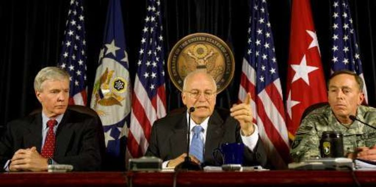 Dick Cheney bracht vandaag een verrassingsbezoek.