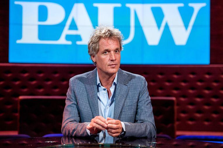 Na twee maanden Eva Jinek is Jeroen Pauw weer terug met zijn latenightshow. Beeld anp