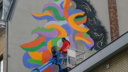 Abstracte muurschildering verschijnt aan KVS