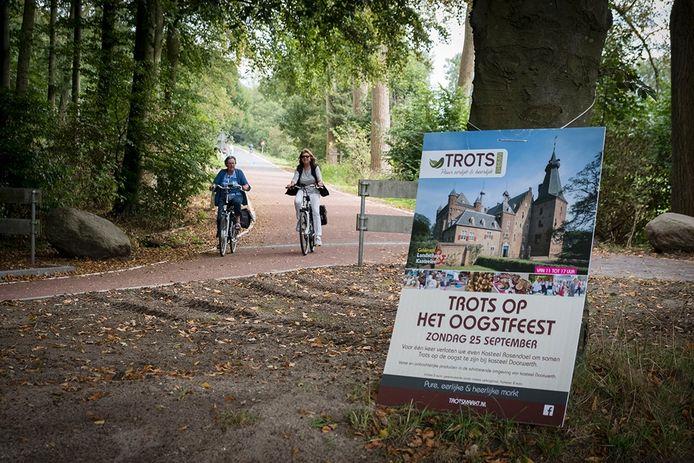 Het snelfietspad tussen Wageningen en Arnhem.