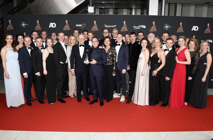 De cast van Soldaat van Oranje op de rode loper bij het Musical Awards Gala.