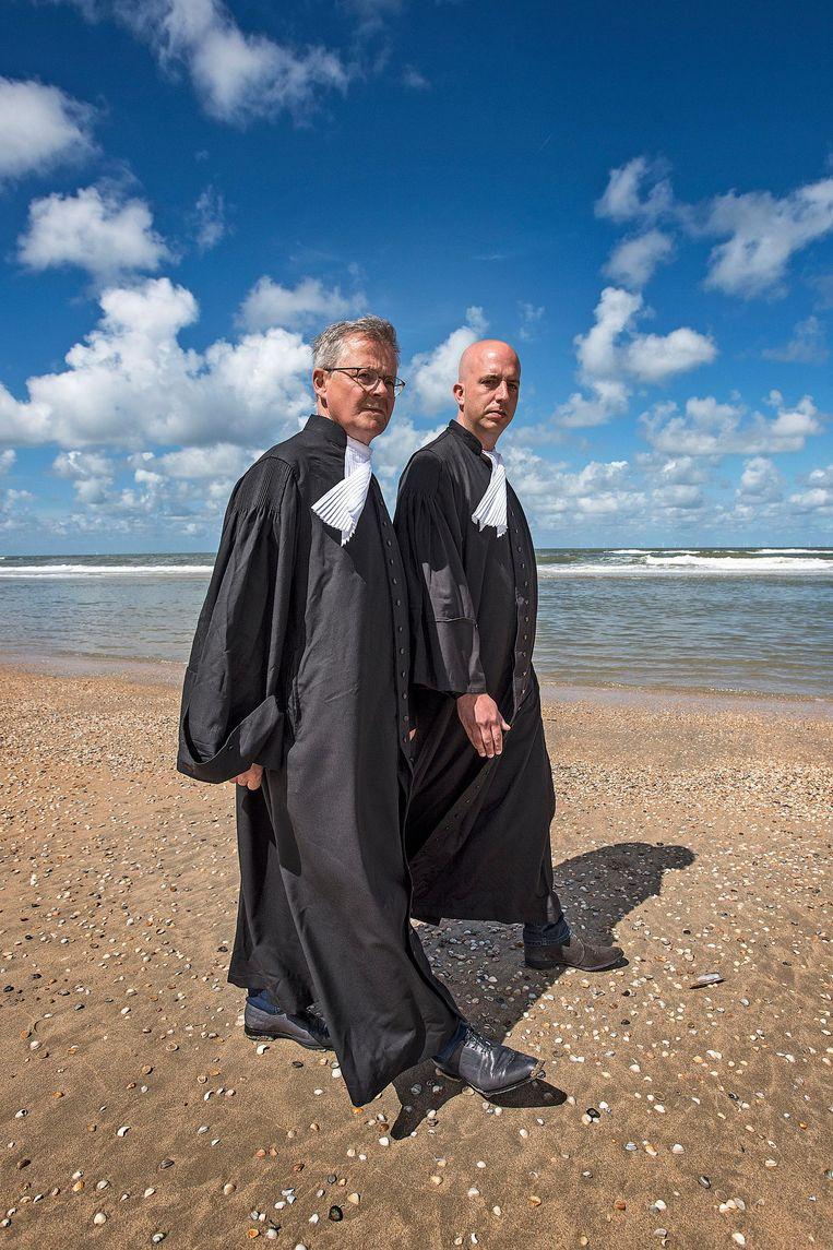 Nico Meijering en Christian Flokstra. Beeld Guus Dubbelman / de Volkskrant