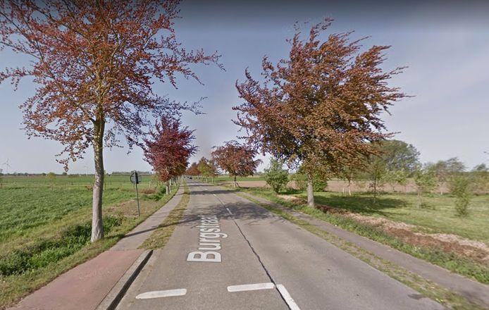 Het ongeval gebeurde in een van de flauwe bochten van de Burgstraat.