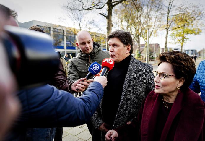 Frank Masmeijer arriveert bij de rechtbank in Amsterdam.