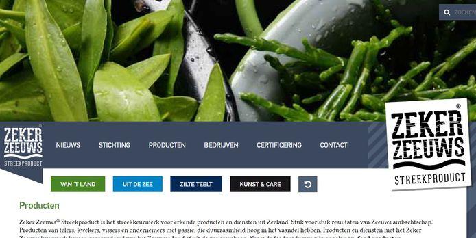 De website van Zeker Zeeuws.