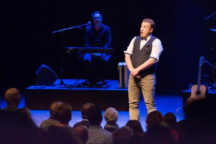 Maikel Harte op het podium.