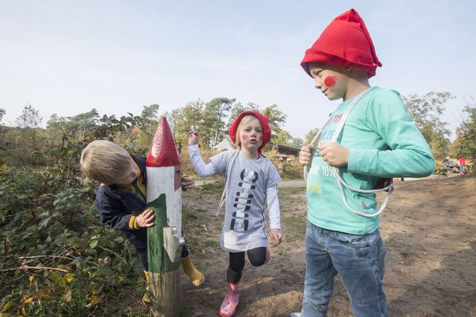 Kabouterpaden zijn bijna overal in trek bij kleine kinderen, zoals hier in Nijverdal.