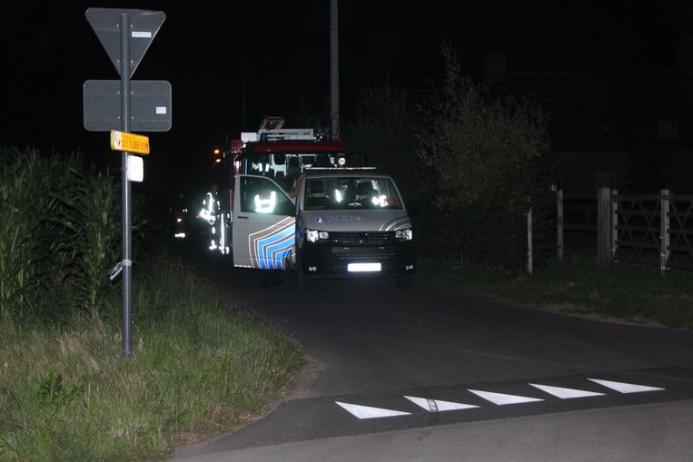 Het ongeval vond plaats in een donkere straat vlakbij een kruispunt met de Wakkenstraat in Markegem.