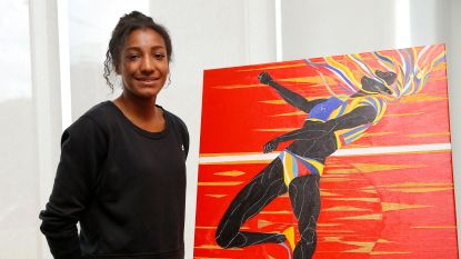 Nafi Thiam is gezicht van Memorial, maar pronkt ook op schilderij