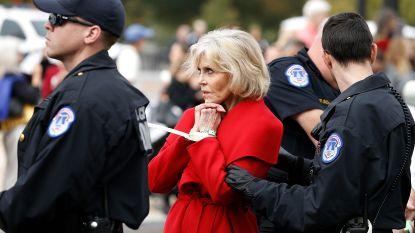 Jane Fonda (81) alweer opgepakt bij klimaatprotest