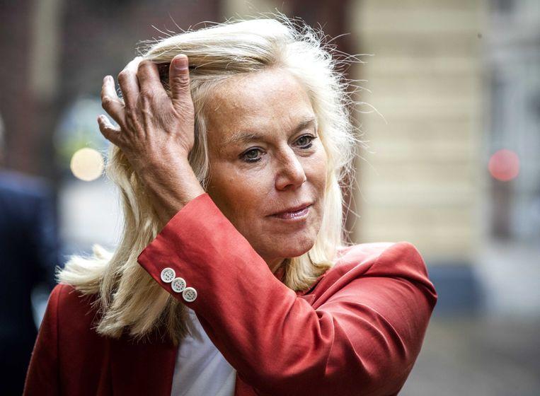 Minister Sigrid Kaag is met ruim 95 procent van de stemmen verkozen tot lijsttrekker van D66. Beeld EPA