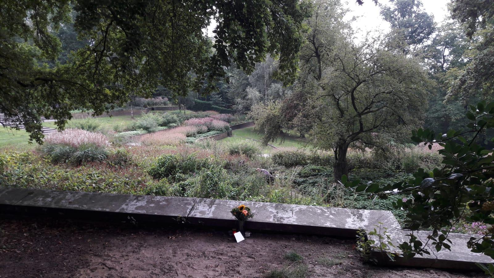 Het monumentje in Park Sonsbeek in Arnhem.
