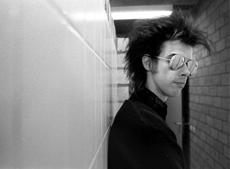 Nick Cave voor een optreden in Paradiso in het voorjaar van 1984. Foto Peter Elenbaas Beeld