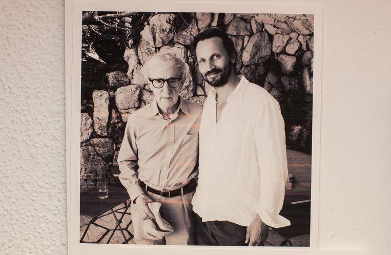 Met regisseur Woody Allen Beeld Mats van Soolingen