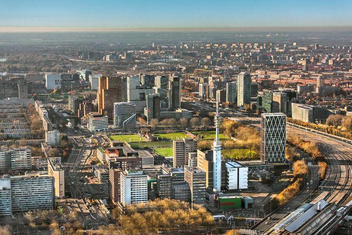 De Zuidas in Amsterdam, thuisbasis van de Nederlandse trustsector.